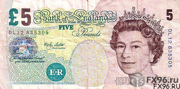 банкнота британский фунт стерлингов
