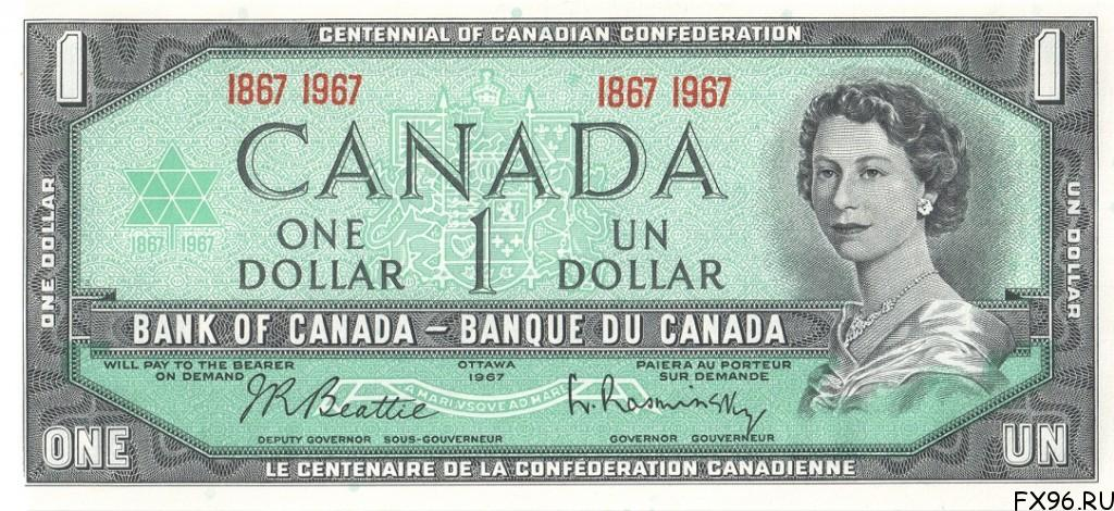 1 доллар канадский