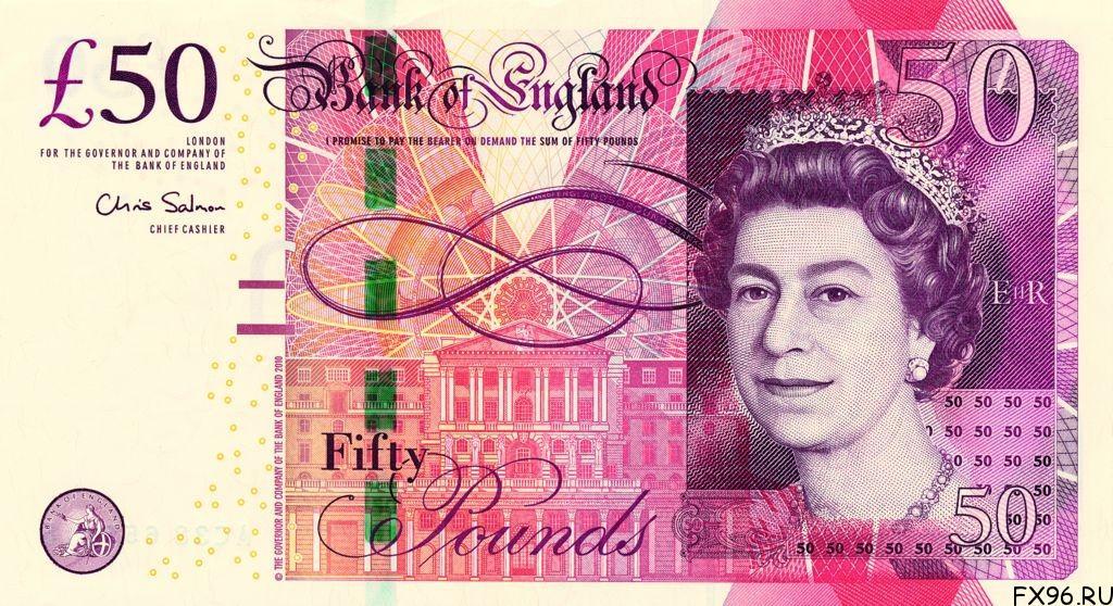 банкнота 50 фунтов стерлингов