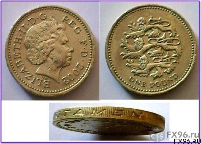 монета Елизаветы Британия